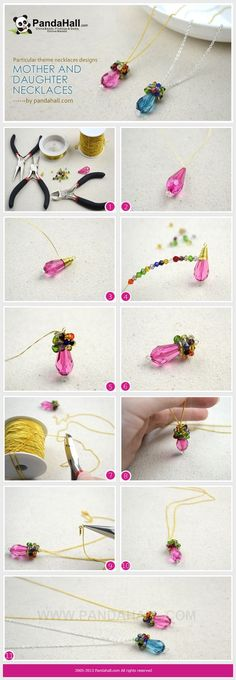 Jewelry Making Tutorial / This tutorial is aiming at an easy wire wrapped birthstone necklaces designs that you can make up in about 10 minutes.