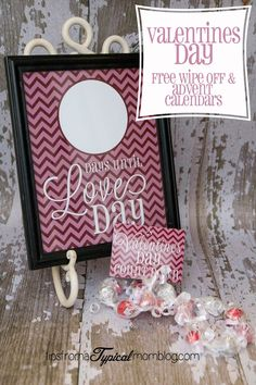 Valentines count down with free printable!
