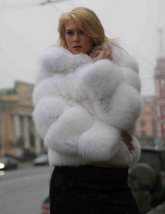 Winter White Fox Fur Jacket