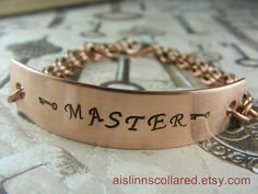 Master Handstamped Copper Chainmaille Bracelet by aislinnscollared, $20.00