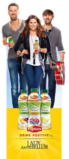 "Lady Antebellum partners with Lipton for their ""Drink Positive"" ad campaign"