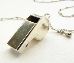 Tiny Police Whistle Necklace