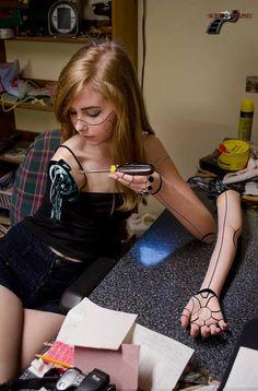 cyberpunk, penni, robot