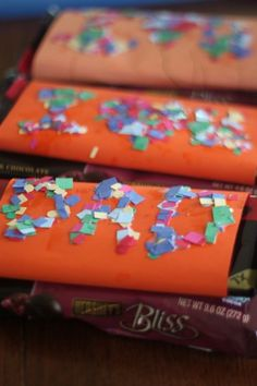 Candy wrappers the kids can make Dad for a Father's Day treat