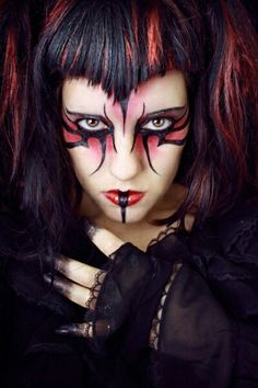 Cool looking goth makeup