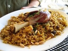 Kabsa... yes, it's meat with rice and spices. Okay, so that sounds like every recipe in the Middle East, but this one is special. What makes it special is the Kabsa spice mix... saffron, cardamom, cinnamon, allspice, white pepper, and ground dried limes. Yes, I said it. Ground dried limes. This mix with the lamb and onions (you know how I feel about those) are simply fantastic. Great hearty recipe for a hungry family.
