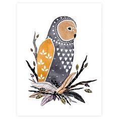 Manu Owl, print - love the owl