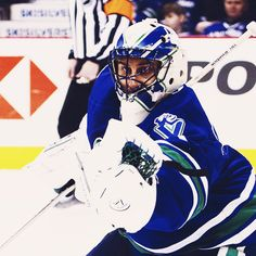 Roberto Luongo, still with the Vancouver Canucks