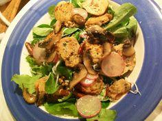 ~ Acorns ~ Nuggets of Gold ~: Organic Girl Greens McGyver Meatball Salad! (Recipe)