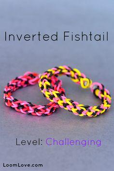How to Make an Inverted Fishtail Rainbow Loom Bracelet #rainbowloom