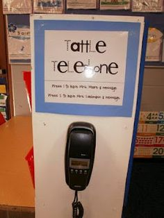 "tattle telephone, press 1 to ""leave a message"" and tattle on someone-  ha ha!"
