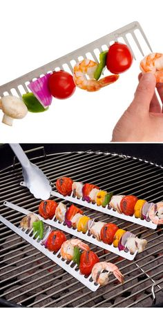 Grill Comb // an easy-to-flip design cuts down on food rotation, meaning your delicious dinner will cook more evenly. Genius! #product_design