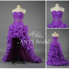 2014 High Low Prom Dress Long Train,Corset Prom Dress Purple,Purple Prom Dress Sweetheart,Purple Evening Dress Front short Long Back,E071 on Etsy, $207.77 CAD