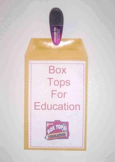Box Tops For Education Holders -- to send home at beginning of school year