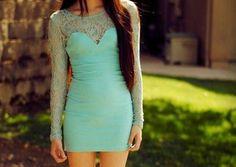 fashion, mint green, blue, color, the dress, sea, green dress, closet, lace dresses