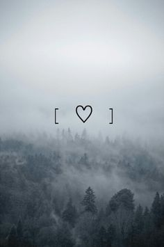 #background #cute #fog #forest #grunge #heart #indie #love #nature #photography #trees #wallpaper