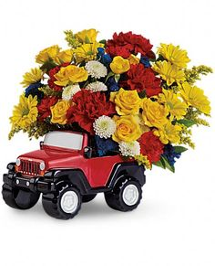 Jeep Wrangler King Of The Road by Teleflora Flowers