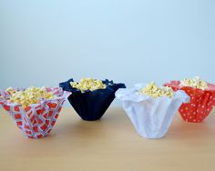 Fabric Snack Cups fr