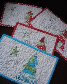 cute christmas mini quilts