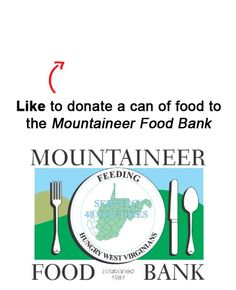 We are donating a can to a food to the Mountaineer Food Bank in Gassaway, WV for each Like on this pin!  Like EatAtTGIFridays on Facebook and we'll donate another! https://www.facebook.com/EatAtTGIFridays