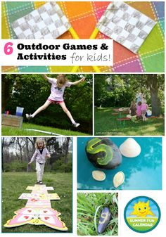 6 outdoor activities and games for kids - from our Summer Fun Calendar series!