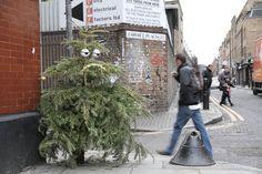 artists, street art, christma tree, discard christma, dface christma, christmas trees, artist turn, streetart, eye