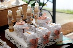 Cute favors at a Lamb themed baby shower! See more party ideas at CatchMyParty.com!