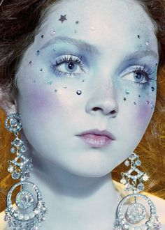 Lily Cole by Miles Aldridge for Vogue Italia, August 2006
