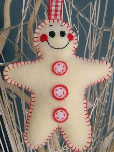 DIY::Gingerbread man ornament