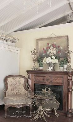 My French Country Cottage ~ Sitting & Reading Area