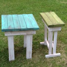 Coffee tables out of 2x4s