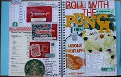 bottl, books, book idea, starbuck, smashbook, smash book, scrapbook paper, altered journals, blog