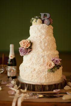 Pretty Textured Wedding Cake