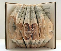 creativ, craft books, letter, book origami, inspir, isaac salazar, altered art
