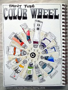 art journal, color wheels