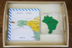 Map Unfolding and Folding and Country Matching Activity by Deb Chitwood Ideas for Brazil!
