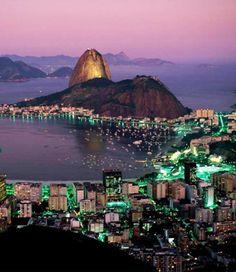 Rio De Janeiro at night, Brazil: