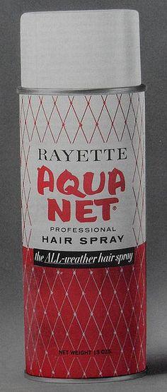 hair spray   1960's