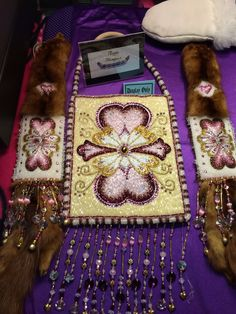 "Beaded bag done by ange thompson in loving memory of ""baby boy"""