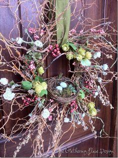 Spring door wreath DIY