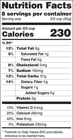 The FDA is proposing a new look to its food nutritional labels.