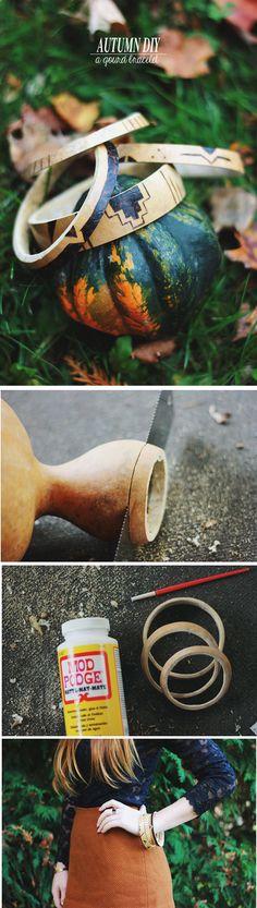 A cool autumn DIY   A Gourd Bracelet