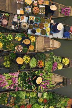 Floating market, #Thailand #travel