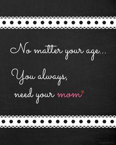I miss my Mom!!  ♥