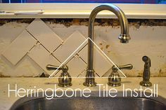 How To Install Herringbone Tile Backsplash