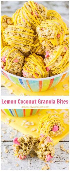 Lemon Coconut Granola Bites