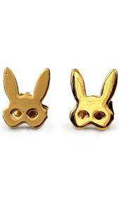 bunny mask earrings