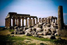 The Greek Temple of Hera-Selinunte, Sicily