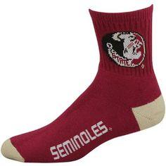 Florida State Seminoles (FSU) Team Logo Crew Socks - Garnet