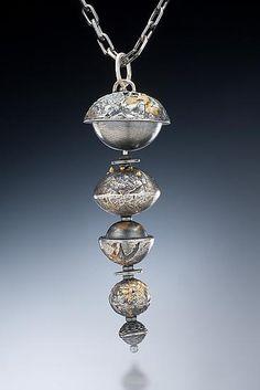 Five Spice Pendant: Nina Mann: Gold & Silver Necklace - Artful Home